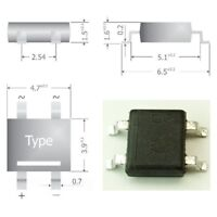 S341 - 30 Stück SMD Brückengleichrichter Gleichrichter 80V 0,8A Mini-DIL Gehäuse