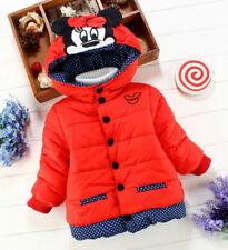 Children Outwear Coats Baby Kids Girls Winter Minnie Jackets Clothing C1r/18-24