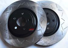 Fits R32 TT 3.2 Slotted Brake Rotors Premium Grade Front Pair 334MM