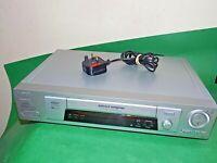 SONY VCR VHS VIDEO CASSETTE RECORDER Vintage SLV-SE800 Silver Smart Fully Tested