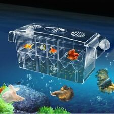 Double-Deck Clear Fish Breeding Isolation Box Aquarium Breeder Tank Incubator