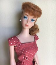 Vintage 1962 Barbie Doll #850 #6 Ponytail Titian Coral Lips/Nails OSS Dressed