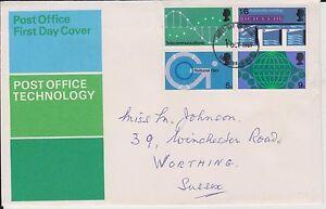 (JP-267) 1969 GB FDC 4block post office technology (267JH)