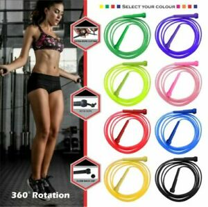 Adjustable Skipping Rope Jump Boxing Fitness Speed Rope Adult Kids Free P&P UK.