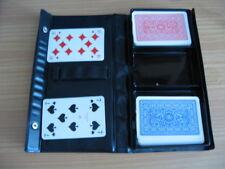 Kartenspiel Idè mit Etui Rommè Bridge Canasta Skat 2 x 55 Kart.