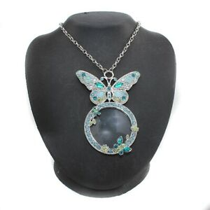HSN Colleen Lopez My Things Butterfly Magnifying Glass Drop Necklace $127