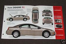 1999 (1998-PRESENT) CHRYSLER 300M 300 M Car SPEC SHEET BROCHURE PHOTO BOOKLET