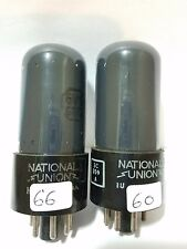 2 National Union Jan  6V6 GT VT 107 Vacuum Tubes Tested On  Calibrated TV - 7
