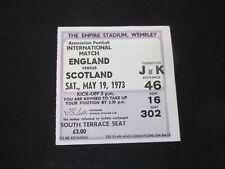 1973 INTERNATIONAL ENGLAND v SCOTLAND  TICKET STUB