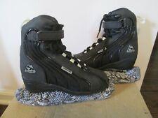Jackson Softec Black Unisex Figure/Ice Skates Sz 4 Ultima Mark Iv Blades Covers