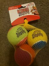 Kong Squeakair 3 Pack Happy Birthday Tennis Balls, Dog Fetch Toy, Medium