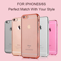 Funda flex-color para iphone 6 6s  y 6 6s plus  carcasa protector transparente