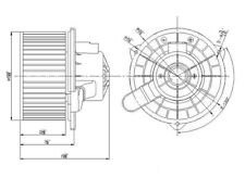 HVAC Blower Motor Front TYC 700133