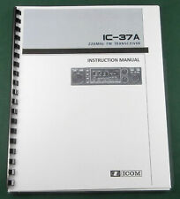 Icom IC-37A Instruction Manual: Comb Bound with Protective Covers!