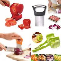 Vegetable Tomato Cutter Fruit Peeler Easy Onion Holder Slicer Kitchen Tools HOT