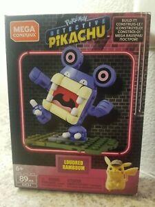 MEGA Construx - Pokemon Detective Pikachu Set - LOUDRED RAMBOUM (89 Pieces) New