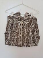 SASS & BIDE Zambia Shaker White/Olive Patterned Skirt Size EUR 40/ US 4