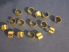 lot 15 earring cuffs w/ stars gold plated ear wrap jewelry findings w/hole 11 mm