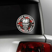 Zombie Outbreak Response Team Funny Vinyl Decal Window Sticker Car Bumper Gift F