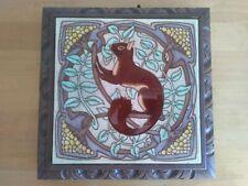 Superbe dessous de plat musical art déco motif écureuil boîte à musique