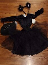 NWT Pottery Barn Kids Black Kitty Cat Tutu costume & treat bag 3t 3 Halloween