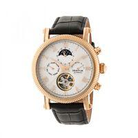 70eaf150c Heritor Automatic Winston Men's Semi-Skeleton Leather Rose Gold Watch HR5205