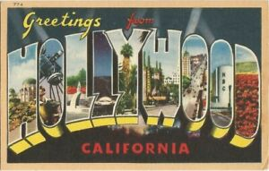 Hollywood, CA California Large Letter Postcard by Longshaw