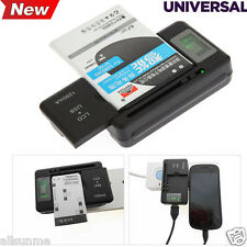 yiboyuan UNIVERSALE LCD Caricabatterie + porta USB per smartphone batteria