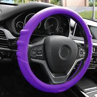 Purple Steering Wheel Cover Silicone for Auto Car SUV Universal Fitment