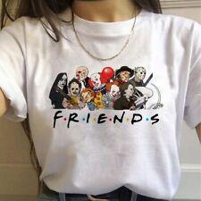 Friends Tv Shows Horror Harajuku T Shirts Women Funny Avengers T-shirts Best