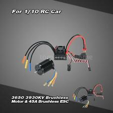 3650 3930KV 4P Sensorless Brushless Motor +45A ESC +6V/2A BEC for 1/10 Car S1MY