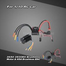 3650 3930KV 4P Sensorless Brushless Motor +45A ESC +6V/2A BEC for 1/10 Car S1MY