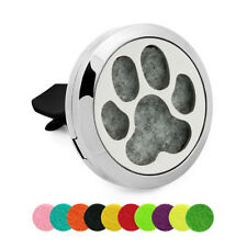 Dog paw Diffuser Locket Aromatherapy Essential oil Car clip Vent Air Freshener