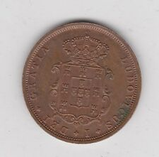1874 PORTUGAL FIVE REIS IN EXTREMELY FINE CONDITION
