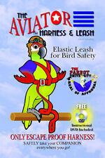 Parrot Bird Pet Aviator Harness Bird Safety Suit & Leash Extra Large