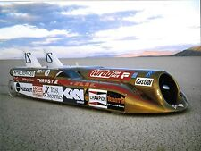 THRUST 2 LAND SPEED RECORD CAR RICHARD NOBLE ON THE SALT LAKE  LARGE PHOTOGRAPH