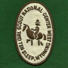 VINTAGE GIRL SCOUTS NATIONAL CENTER WEST TEN SLEEP, WYOMING PARTICIPANT'S  PATCH