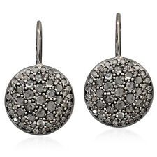 14k Solid Gold 1.58ct Pave Diamond Women's Hook Earrings Fashion Jewelry