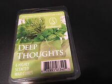 ScentSationals Deep thoughts Wax Cubes 6 Highly scented wax cubes, new