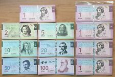LOT 5 SETS Bougainville set 7 banknotes 2016 UNC Private issue (17469)
