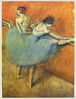 Edgar Degas Ballerina Dancers At The Practice Bar Offset Lithograph