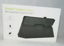 New Slim PU Leather Case Amazon Fire 7 Brown Smart Tablet Auto Sleep Wake F27