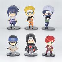 6pcs Hot anime Naruto Gaara Uchiha Sasuke Uzumaki Hatake Kakashi Action Figure