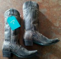 Women's Lane Boots Dawson Leather Western Boots Brown/ Size 7