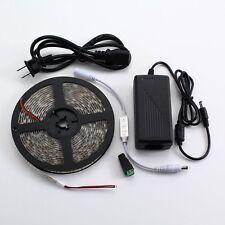 LED Strip Kit Warm White 5M SMD 5050 300Leds Waterproof 3 Keys Dimmer  12V Power