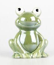 Dekofigur Frosch als Kellner Keramik 15cm NEUWARE!