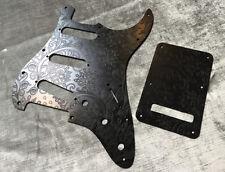 Custom Black Floral Paisley Bakelite Pickguard Fender® Stratocaster® Strat® SSS