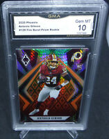 2020 Panini Phoenix Antonio Gibson Fire Burst Prizm Rookie Card GMA Gem Mint 10