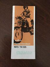 Harley-Davidson 1973 TX-125cc, Sales Brochure