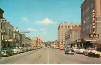 1950s CHERRY STREET LOOKING NORTH At Macon GA Georgia w/ 50s Cars !!!